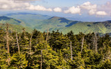 View from Clingmans Dome in Great Smoky Mountains National Park