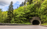 Tunnel along Newfound Gap Road in Great Smoky Mountains National Park