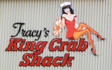 Tracy's King Crab Shack sign in Juneau Alaska