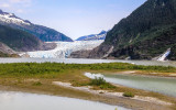 Mendenhall Glacier, Mendenhall Lake and Nugget Falls in the Tongass National Forest
