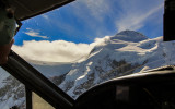 View from the copilot seat as we move through the mountainous areas around Mount McKinley
