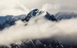 Windswept mountain peak on Mount McKinley