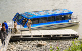 Boarding the jet boat for the trip on the Chulitna River to the Devil's Gorge