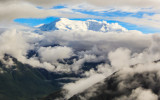 Mt. Blackburn (16,390 ft.) from the air in Wrangell-St Elias National Park