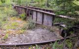 Railroad turntable in McCarthy, Wrangell-St Elias National Park