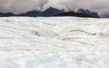 The pitted surface of Root Glacier in Wrangell-St Elias National Park