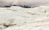 The surface of Root Glacier in Wrangell-St Elias National Park