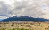 Mountains overlooking the Kennicott Glacier in Wrangell-St Elias National Park