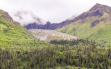 A rock glacier in the mountains of Wrangell-St Elias National Park