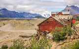 The Leaching Plant and Kennicott Glacier from Kennecott, Wrangell-St Elias National Park