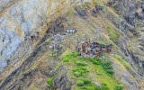 Bonanza Mine (left) and miners quarters from the air in Wrangell-St Elias National Park