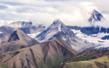 Mountains from the air in Wrangell-St Elias National Park