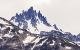A jagged mountain peak near Shamrock Glacier