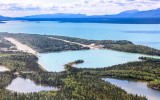 Approach to Port Alsworth in Lake Clark National Park