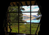 View from Dick Proenneke's cabin in Lake Clark National Park