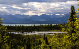 View over Beaver Pond on the Tanalian Falls Trail in Lake Clark National Park