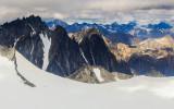 Mountain peaks in Lake Clark National Park