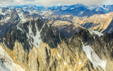 Mountains from the air in Lake Clark National Park