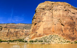 The Green River and Steamboat Rock in Echo Park in Dinosaur National Monument
