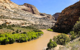 The Green River just upstream from the confluence with the Yampa River in Dinosaur National Monument