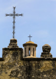 Crosses on top of Mission Concepcion in San Antonio Missions NHP