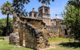 Mission Concepcion and compound ruins in San Antonio Missions NHP