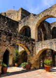 Arches behind Mission San Jose in San Antonio Missions NHP