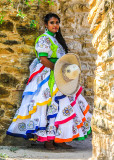 Quinceañera Celebration photo shoot at Mission San Jose in San Antonio Missions NHP