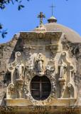 Facade of Mission San Jose in San Antonio Missions NHP