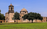 Side view from the courtyard of Mission San Jose in San Antonio Missions NHP