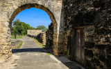 Pathway into the courtyard at Mission San Juan in San Antonio Missions NHP