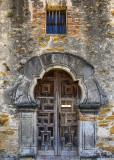 Broken arch doorway at Mission Espada in San Antonio Missions NHP