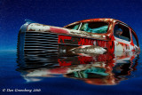 1938 Pontiac Under Water and a Starry Sky