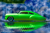 1949 Green Buick Reflection