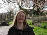 Deb in Churchyard at Burford