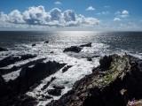 Rugged coast at Hartland Point Devon