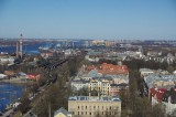 View from the Ministry of Agriculture on Port area