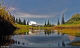 Camera half submerged in Upper Tipsoo Lake