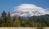 Mt Rainier with Lenticular Clouds