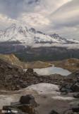 Pinnacle Glacier, Tarn & Mt Rainier
