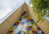 Stainglass Window - the cardboard cathedral in Christchurch