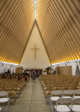 Interior of the cardboard cathedral