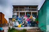 Beach House with Mural