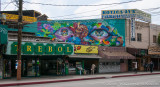 Downtown Shops with Mural