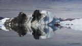 Cruising among gigantic icebergs