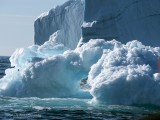 Interesting different types of Ice with ice bridges and towering ones