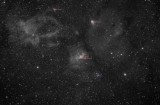 NGC7635, wide field (annotated version)