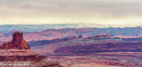 View From Dead Horse Point On  A Snowy Morning