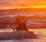 Kite boarder Off Silver Strand  (CA)