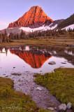 Reynold Mountain reflection at sunset